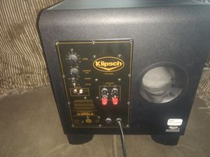 Klipsch speaker subwoofer it in perfect condition not one scratch on it even still have the papers to it for Sale in St. Louis, MO