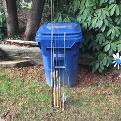 5 Steel Fishing Poles And A Shakespeare Reel for Sale in Milwaukie,  OR
