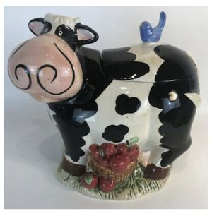 "Ckao large Ceramic spotted cow cookie jar 8.5"" tall for Sale in Chicago, IL"