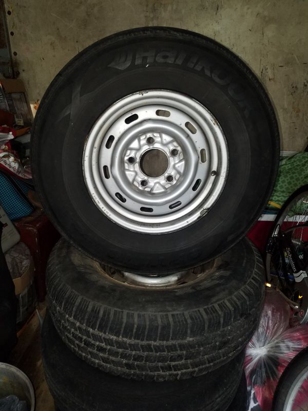 15 inch 5 lug rims and tires