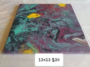 Abstract Acrylic Pour Painting for Sale in Cadillac, MI