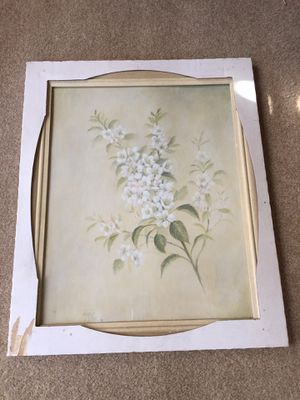 White flower artwork for Sale in Long Beach, CA