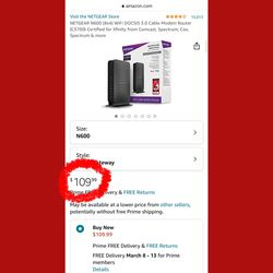 brand new 📦 NETGEAR N600 Cable Modem ➕Router Combo 💰 original $120 with tax for Sale in Des Moines,  WA
