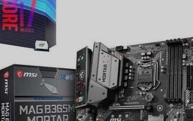 Combo Intel Core i7 9700K + Motherboard MSI B365M Mortar for Sale in Las Vegas,  NV