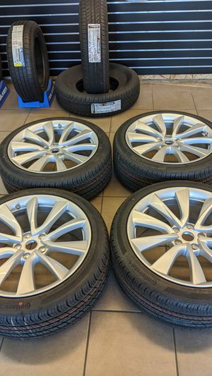 19 in Tesla Model 3 Wheels with Tires and Sensors for Sale in Hayward, CA