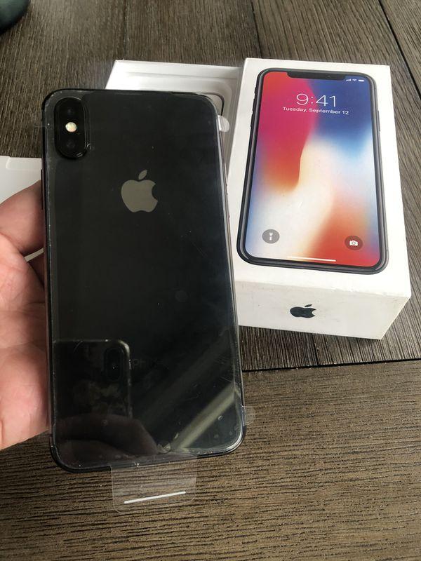 iPhoneX space gray 256Gb