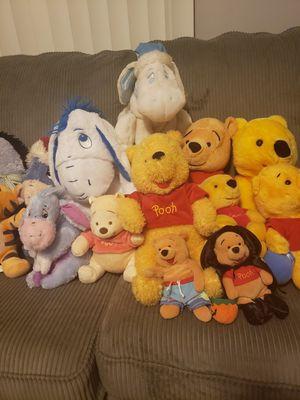 Disney Winnie the Pooh Eeyore Plush Stuffed Animals Lot Bundle for Sale in Oak Lawn, IL