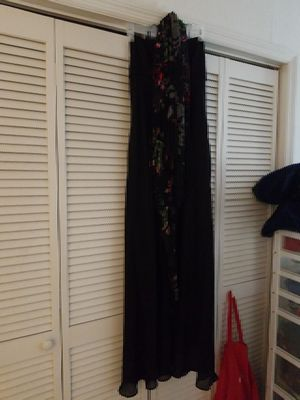 2-piece Onyx Nite evening gown with fringed shawl for Sale in Wildwood, FL