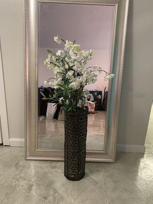 Decorative vase - fake flowers for Sale in Phoenix, AZ