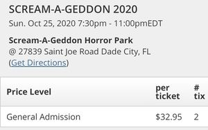 2 screamageddon tickets for Sale in Gulfport, FL