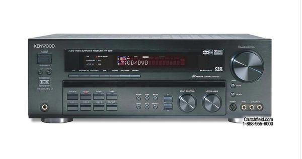 Kenwood 600 Watt THX Select Surround EX 6 Channel Audio-Video Reciever VR-6070 DTS Dolby Digital Pro-Logic II CSII SRS