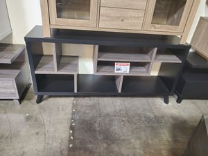 TV Stand up to 70in TVs, Black and Distressed Grey for Sale in Huntington Beach, CA