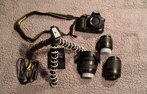 Nikon D3300 DSLR 24.2 MP HD 1080p Camera With 18-55mm Lens Black plus 2 lens for Sale in Hawthorne, CA
