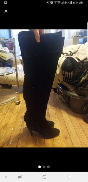 Suede thigh high heel boots size 9.5 for Sale in Staten Island, NY