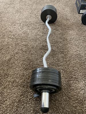 Olympic bar and weights for Sale in Richmond, CA