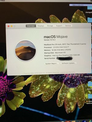 MacBook Pro 2017 i7 2.5Ghz 16GB 500GB SSD for Sale in Woodbridge, VA