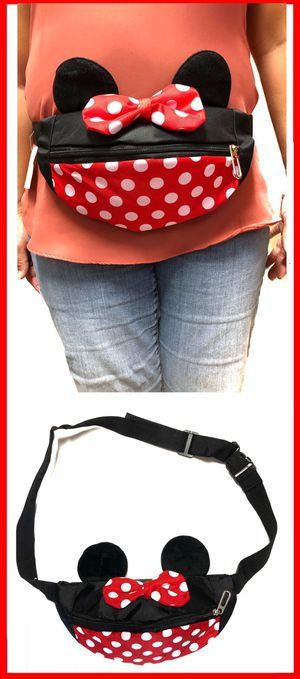 NEW! Stocking Stuffer! Minnie Mouse Style Waist pouch / Shoulder Side Bag Mickey fanny pack Disney Disneyland crossbody bag travel hip bag for Sale in Carson, CA