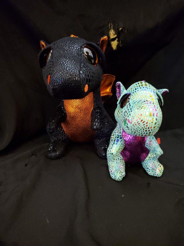 2 ty beanie boo dragons