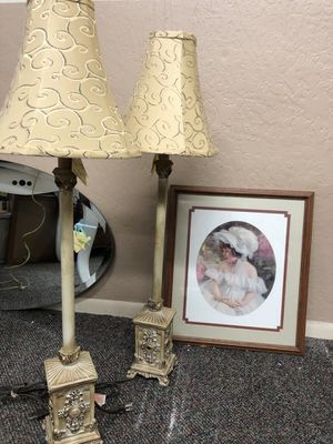 Pair of Lamps & Picture for Sale in Payson, AZ