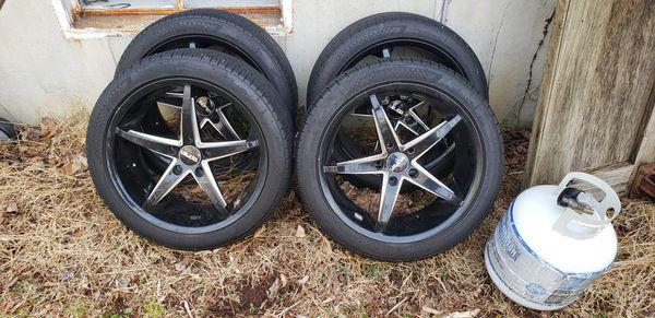 19' Black and steel rims