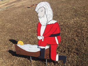 Kneeling Santa Yard Decor for Sale in Mountainburg, AR