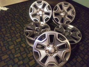 "17"" Set (5) Jeep Aluminum Alloy OEM Rims Retail $1249 for Sale in Hammond, LA"