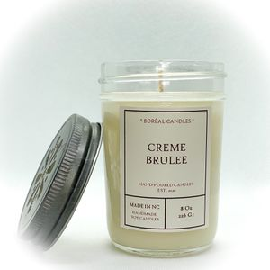 Creme Brulee Candle / custard creme / whipped cream / soy candle 8oz for Sale in Raleigh, NC