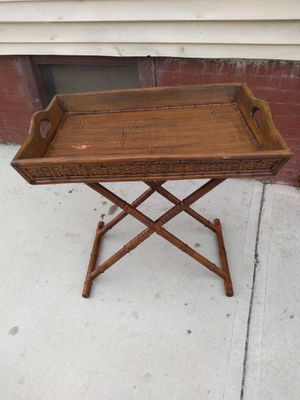 Nice bamboo breakfast in bed table for Sale in Cleveland, OH