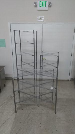 Folding metal racking with acrylic shelves for Sale in Chehalis, WA