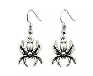 Creepy Halloween SPIDER SILVER DANGLE DROP Earrings for Sale in Macomb, MI