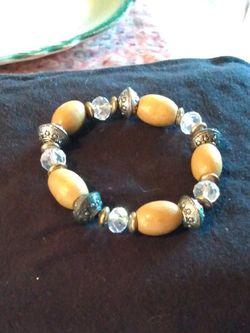 Vintage Silpada Earthy Beaded Stretch Bracelet for Sale in Lillian,  AL
