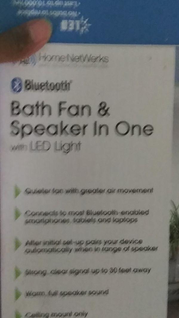 Bluetooth Fan LED Light All In One