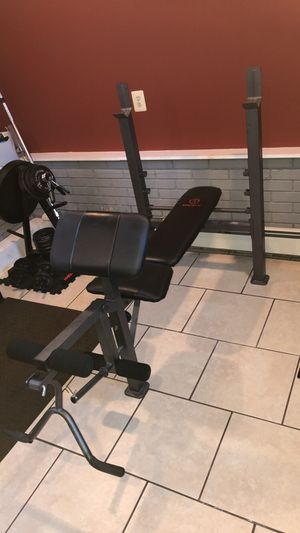 Olympic weight set for Sale in Woodbridge Township, NJ