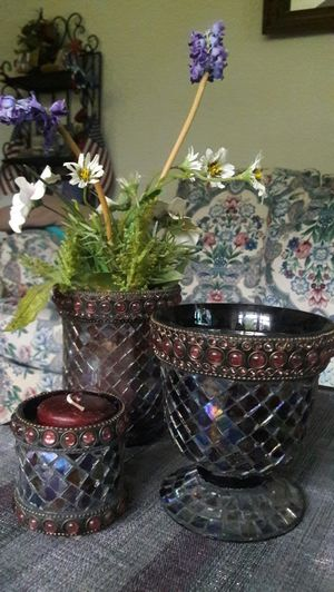 3pc Beautifully design Vase/Candle Holder for Sale in Winter Haven, FL