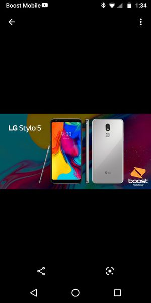 LG Stylo 5 free with the switch read description for Sale in St. Petersburg, FL