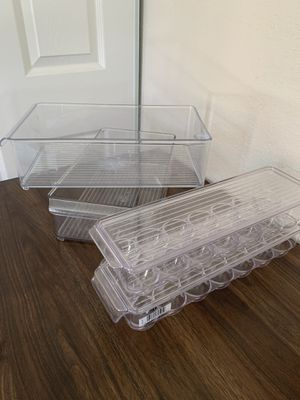4 Fridge Organizer Bins from The Container Store for Sale in Delray Beach, FL