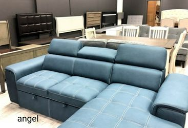 🎁BRAND NEW 🎗Ferriday Blue Storage Sleeper Sectional for Sale in Laurel,  MD