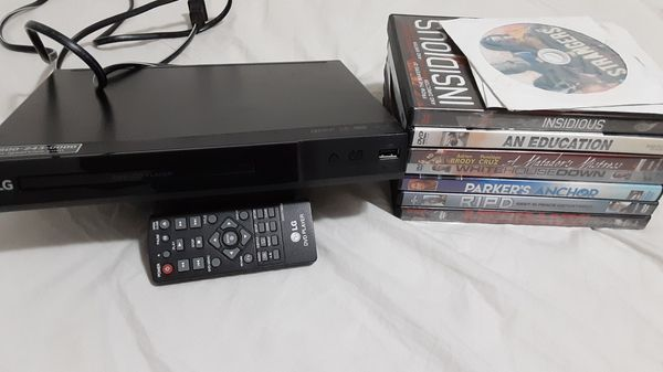 DVD player with remote add 10 movies don,t miss this bound offer