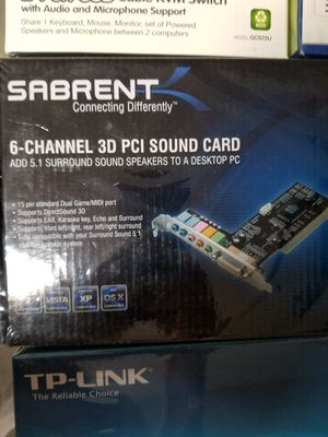3D 5.1 Surround Sound pci card for Sale in El Paso, TX
