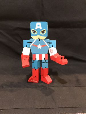 Avengers Captain America Posable Wooden Figurine for Sale in Monterey Park, CA