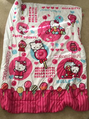 Hello Kitty twin bedspread, sheets, and jewelry box for Sale in Stephenson, VA