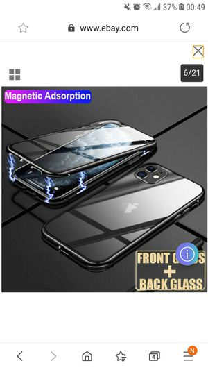 iPhone 11 screen size 6.1 Front and Back Tempered Glass Full Screen Coverage Double Case Brand New Black for Sale in San Diego, CA