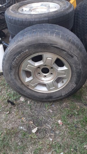4 rims with wheels 265/70/R17 for Sale in Saginaw, TX