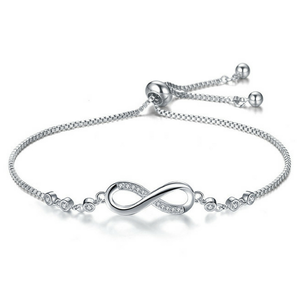 Infinity Love Charm Sterling Silver 925 Adjustable Gold Bracelet Womens Jewelry for Sale in Colorado Springs, CO