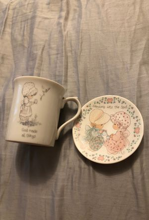 Precious moments mug and plate for Sale in Marysville, WA