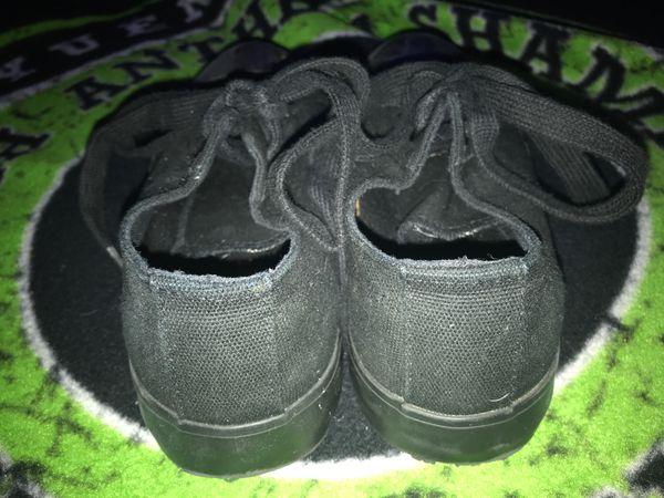 Black off brand converse (comfortable)