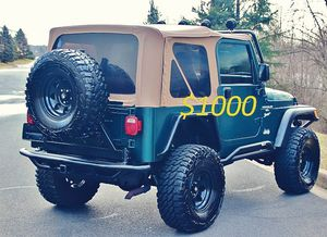 2000🍀Jeep Wrangler TJ Lifted🍀Loaded V6 No Issues-$1000 for Sale in Arlington, VA