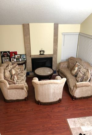 Brand new there set couches with all three tables for Sale in Hayward, CA