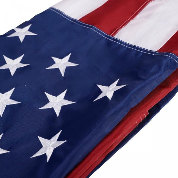 B49- 3' x 5' US American Embroidered Flag