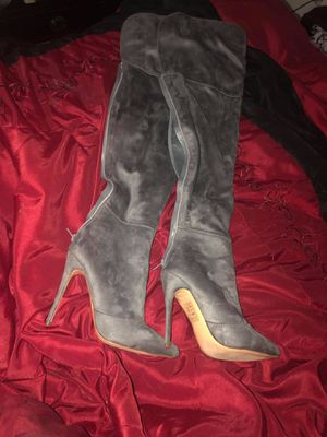 Gray Thigh High boots Size 6 for Sale in Lakeland, FL